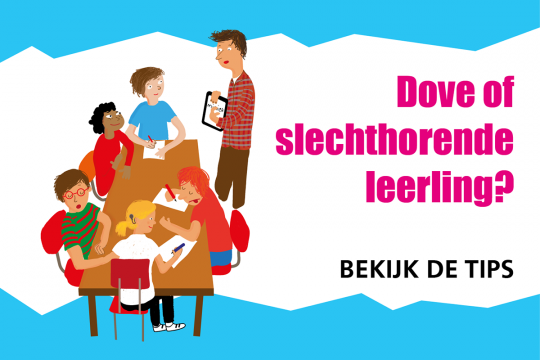 Dove of slechthorende leerling in de klas